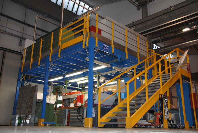 Espace Cloisons Alu plate-forme stockage industriel