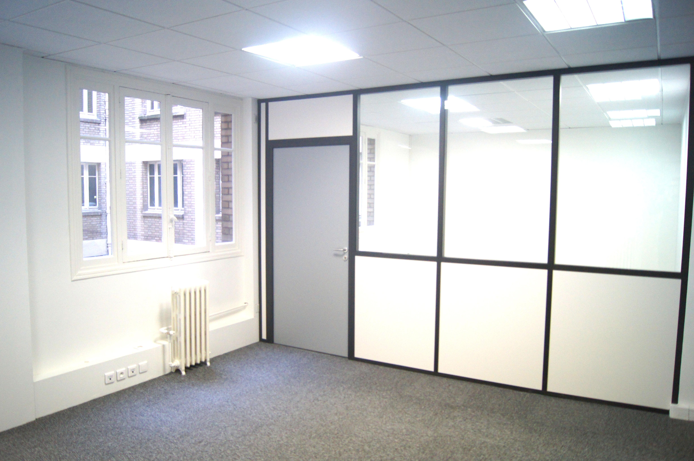 Agencement de bureau en cloisons modulaires ou amovibles espace cloisons alu ile de france - Cloison aluminium bureau ...