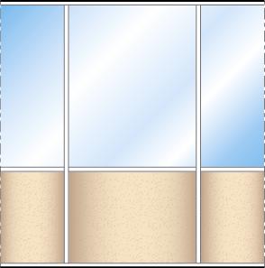Espace-Cloisons-Semi-vitrée-Schéma