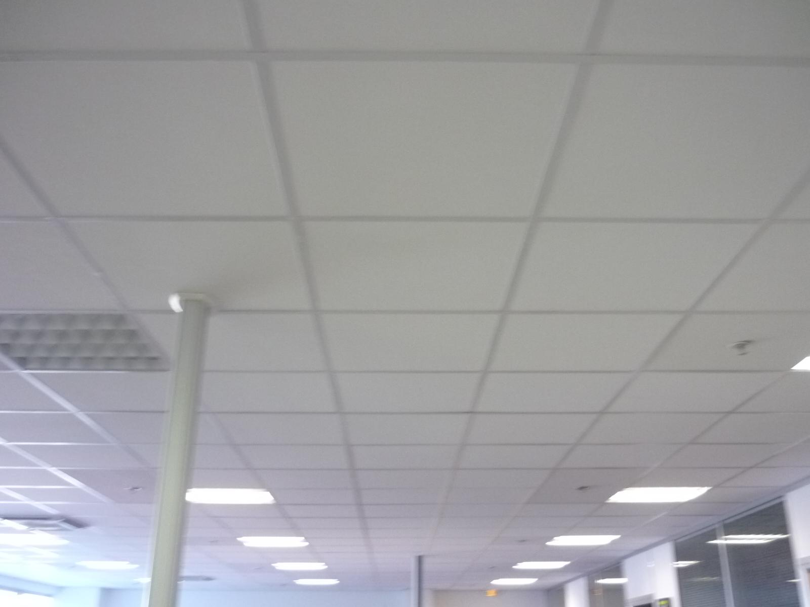 Faux plafond cloisons bureaux 04 espace cloisons alu ile - Faux plafond industriel ...