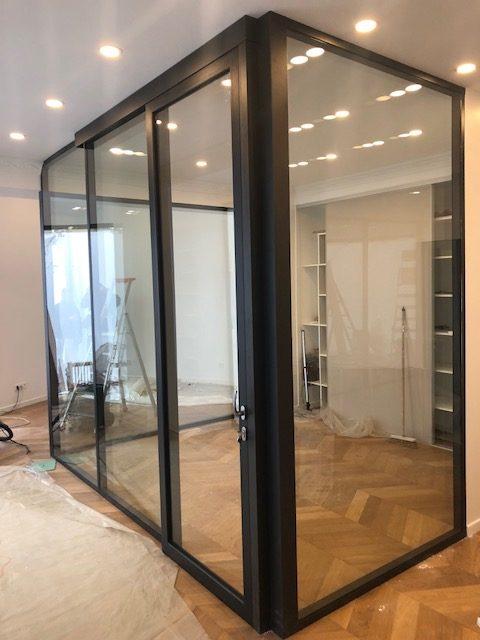 Les cloisons de bureau vitr es toute hauteur espace Porte coulissante cloison