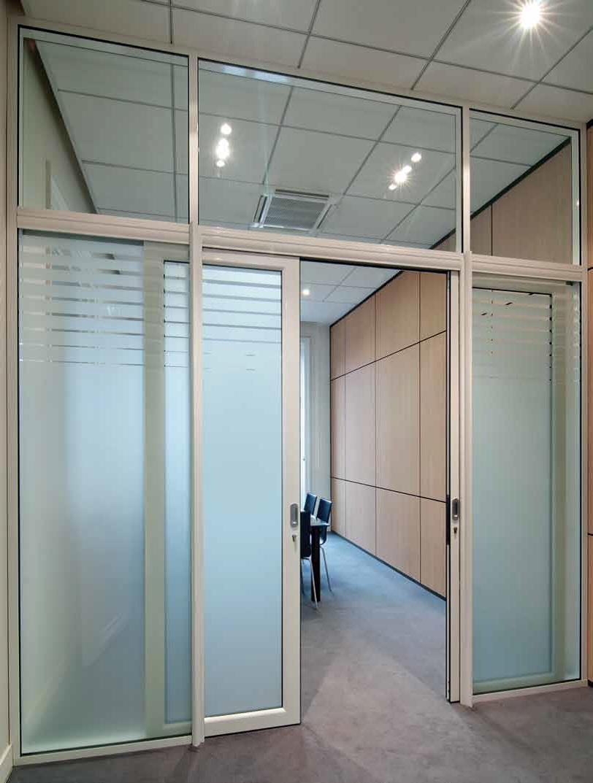Portes Coulissantes Vitrées Intérieures les portes pour cloisons amovibles de bureau | espace
