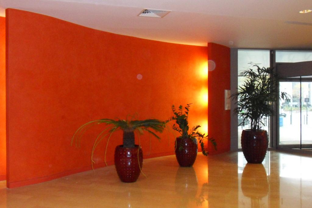 Agencement de bureau Peinture murale- salle de repos -bureau-cuisine entreprise Ile de France