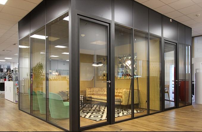 installation de cloison de bureau vitrée toute hauteur sur Paris et ile de france - Espace cloisons alu