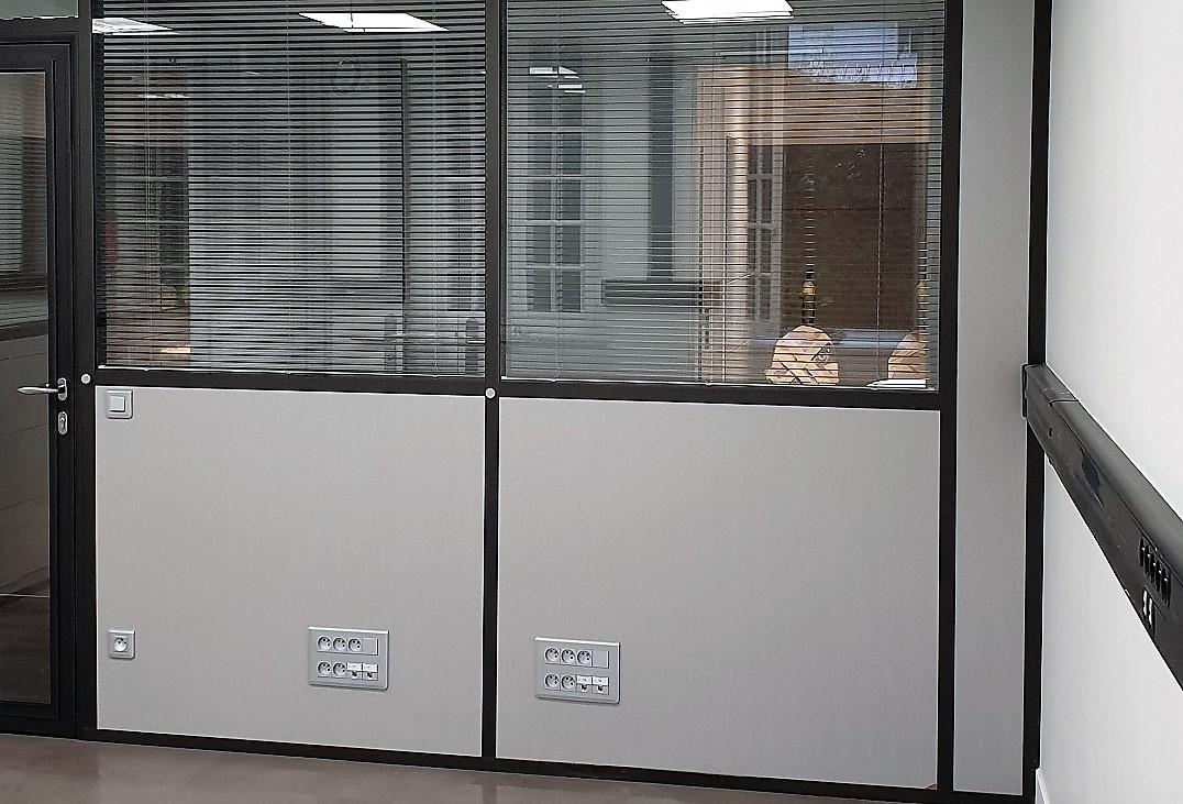 Passage De Cable Dans Cloison installation electrique   espace cloisons alu idf - cloison